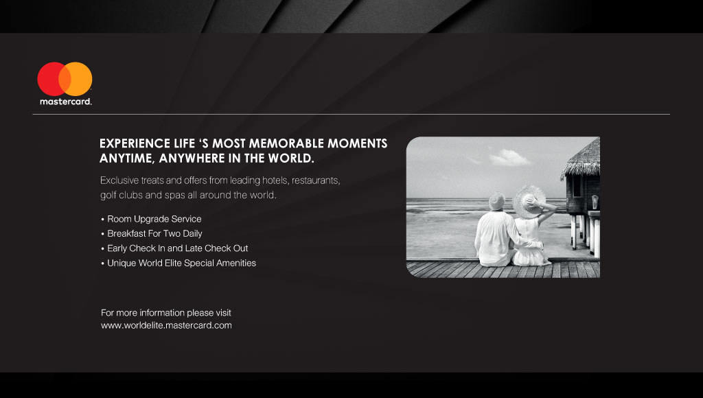 Mastercard Experience Life 's Most Memorable Moments Anytime, Anywhere in the world.